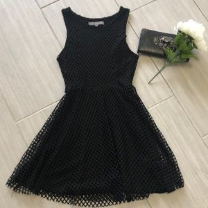 Finn and Clover Fit and flare black lined dress XS